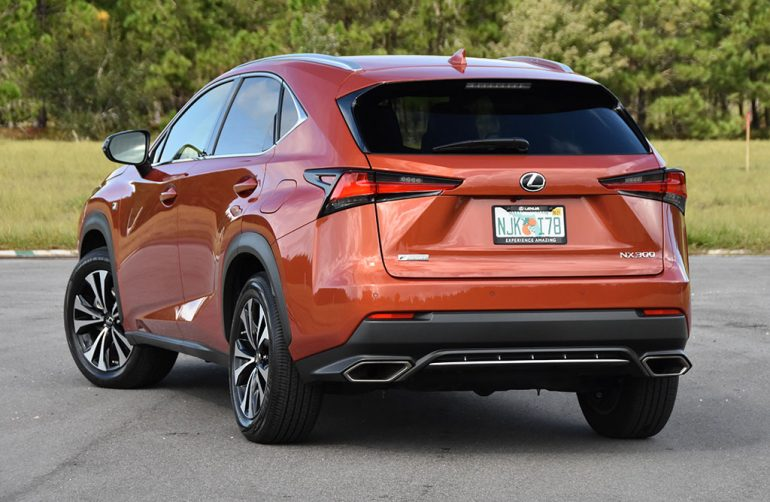 2020 lexus nx 300 f sport rear