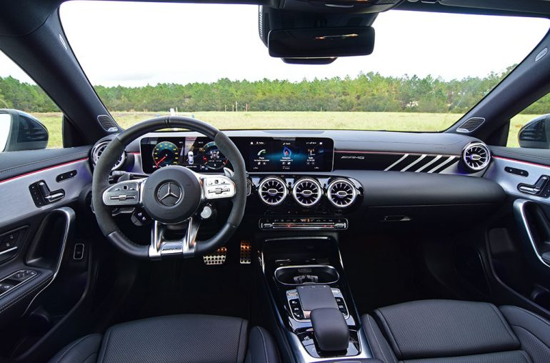 2020 mercedes-amg cla45 dashboard