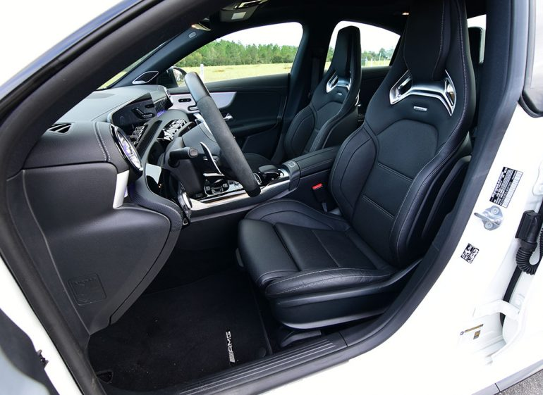 2020 mercedes-amg cla45 front seats