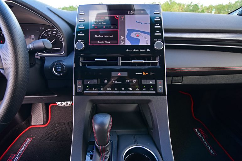2020 toyota avalon trd 9-inch touch screen
