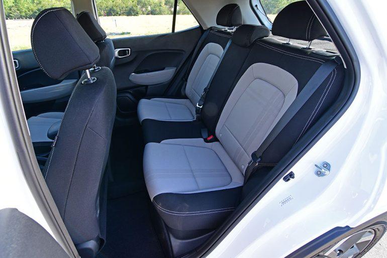 2020 hyundai venue rear seats