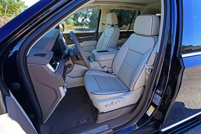 2021 gmc yukon denali front seats