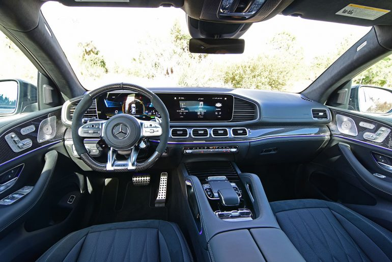 2021 mercedes-amg gle 63s coupe dashboard