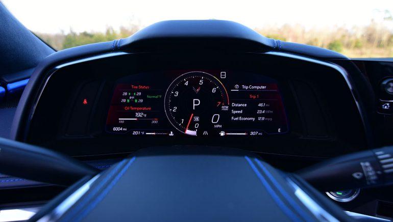 2020 chevrolet c8 corvette stingray convertible gauge cluster