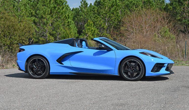 2020 chevrolet c8 corvette stingray convertible side
