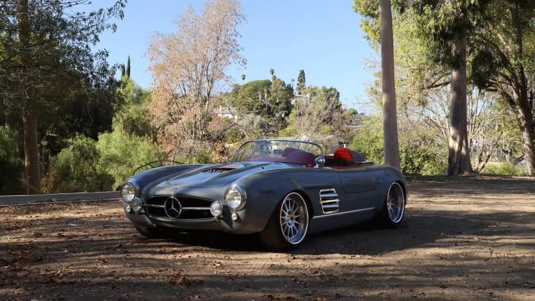 What Was The Car During The Super Bowl LV Halftime Show? – A Custom AMG-Powered Mercedes 300SL Roadster: Video