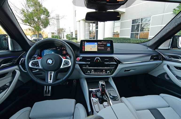2021 bmw m5 competition dashboard