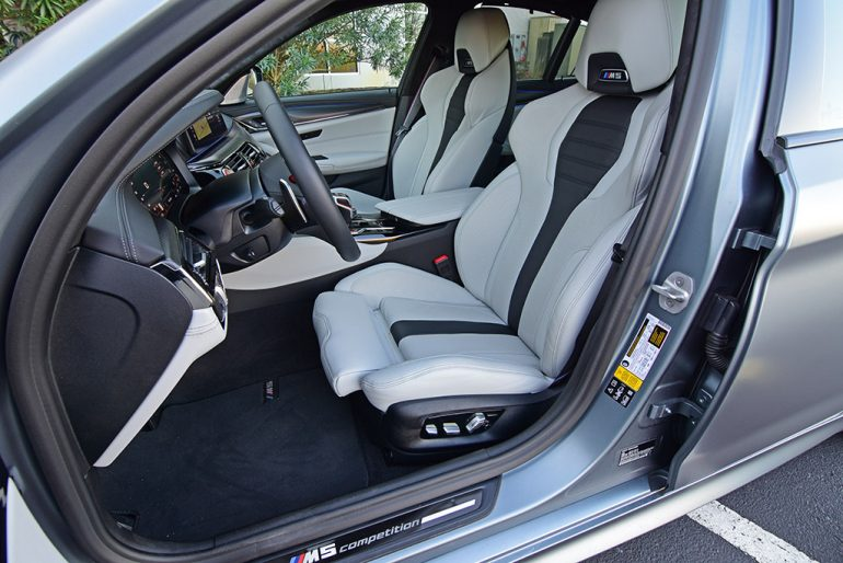 2021 bmw m5 competition front seats