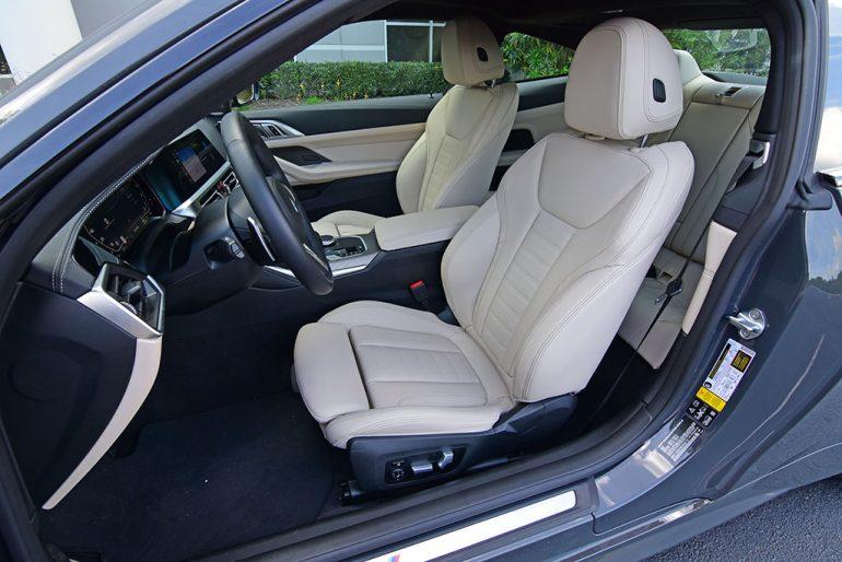 2021 bmw m440i xdrive front seats
