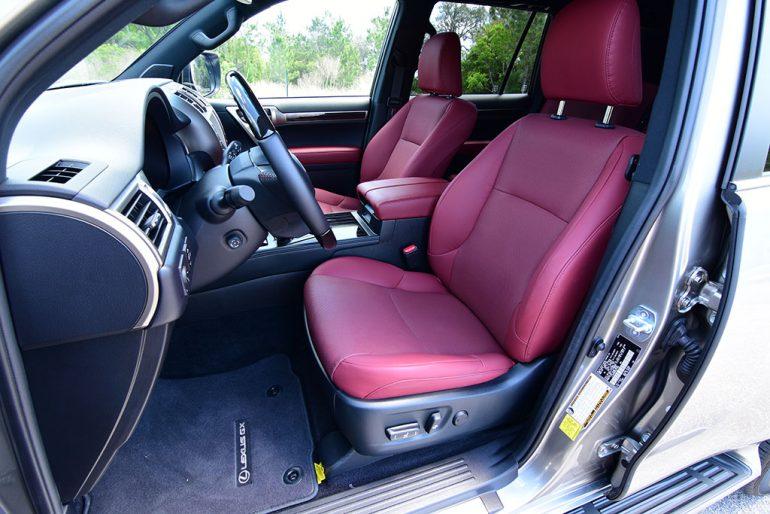2021 lexus gx 460 front seats