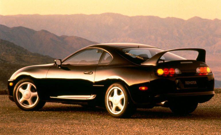 1994 toyota supra turbo black rear