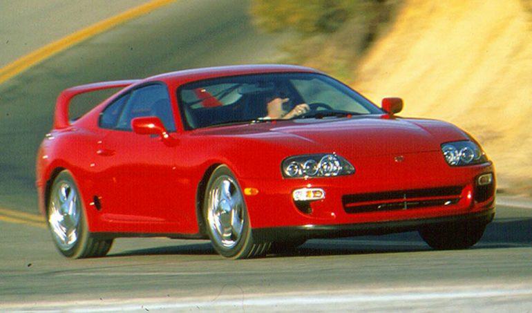 1998 toyota supra turbo red