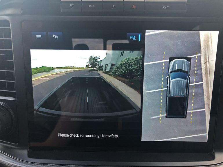 2021 ford f-150 powerboost 360 degree camera bed view