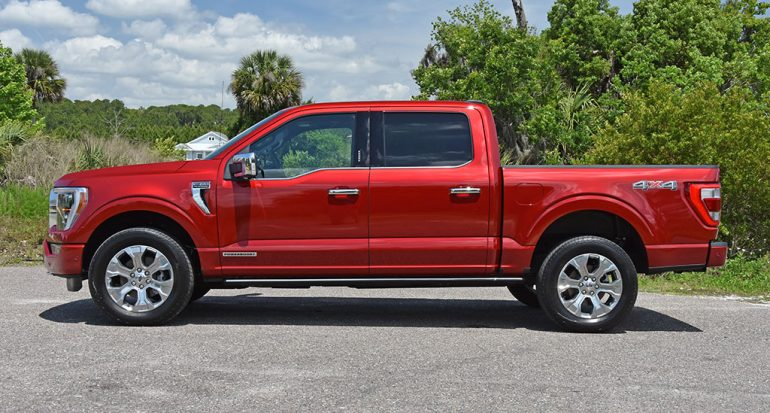 2021 ford f-150 powerboost side