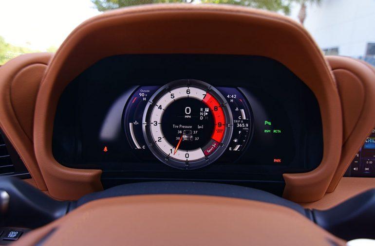 2021 lexus lc 500 convertible gauges