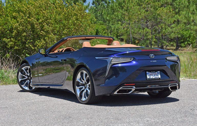 2021 lexus lc 500 convertible rear