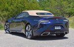 2021 lexus lc 500 convertible top up rear
