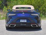 2021 lexus lc 500 convertible rear top up