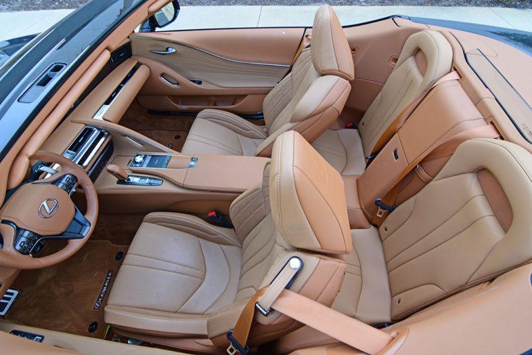 2021 lexus lc 500 convertible seats