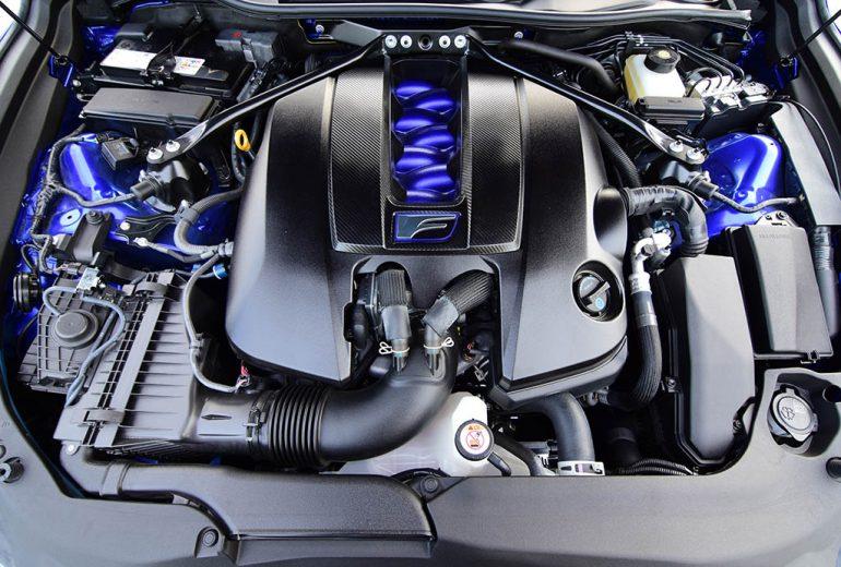 2021 lexus rc f v8 engine