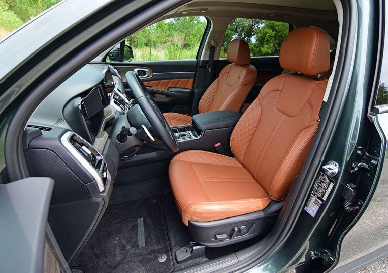 2021 kia sorento sx x-line front seats