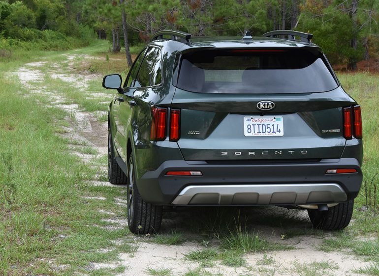 2021 kia sorento sx x-line rear off-road