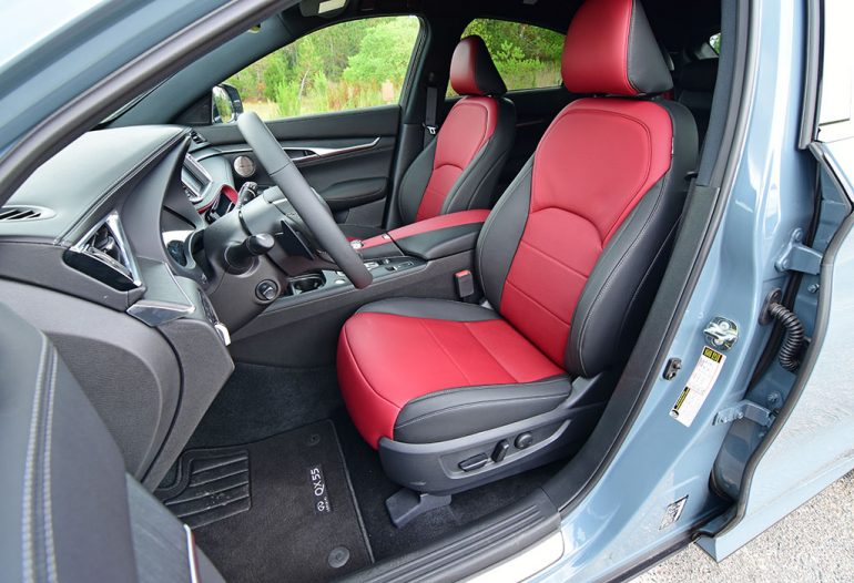 2022 infiniti qx55 sensory front seats