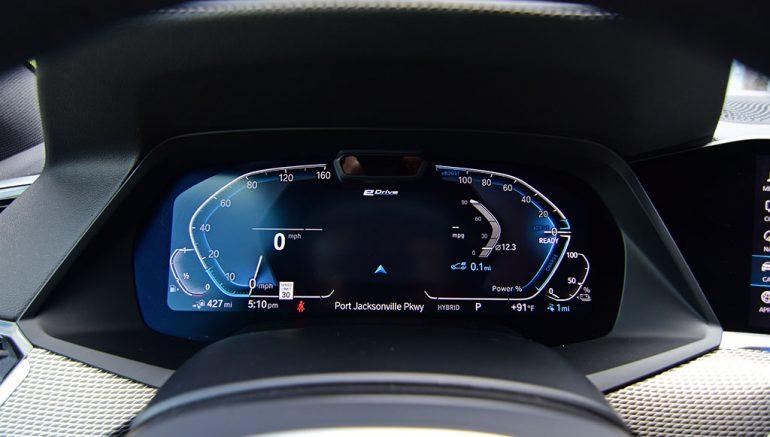 2021 bmw x5 xdrive45e plug-in hybrid gauges