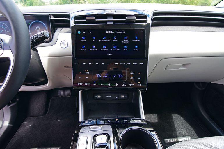 2022 hyundai tucson limited hybrid touchscreen