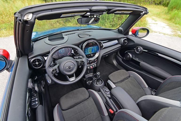 2022 mini john cooper works convertible dashboard interior