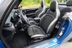 2022 mini john cooper works convertible front seats