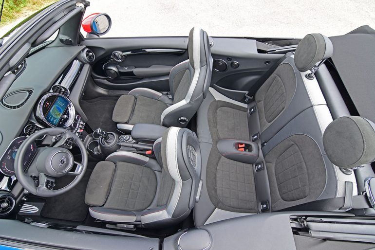 2022 mini john cooper works convertible seats