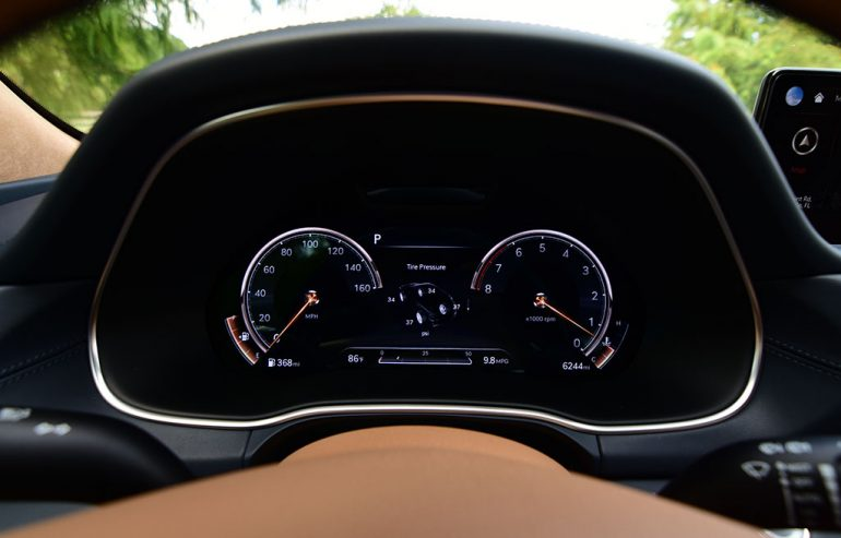 2021 genesis gv80 awd 3.5t prestige 3d gauges